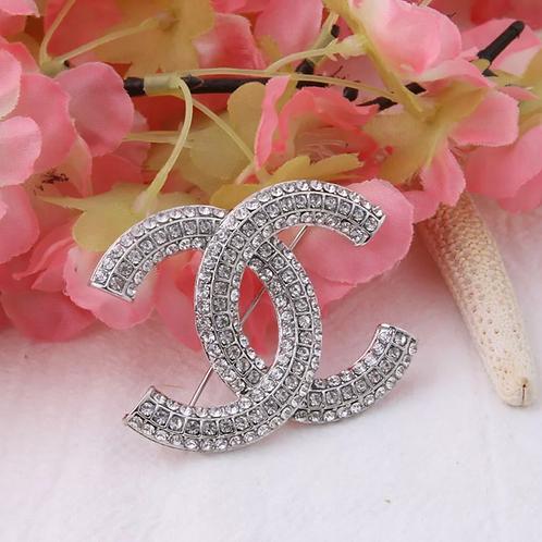 Silver Chanel Brooch