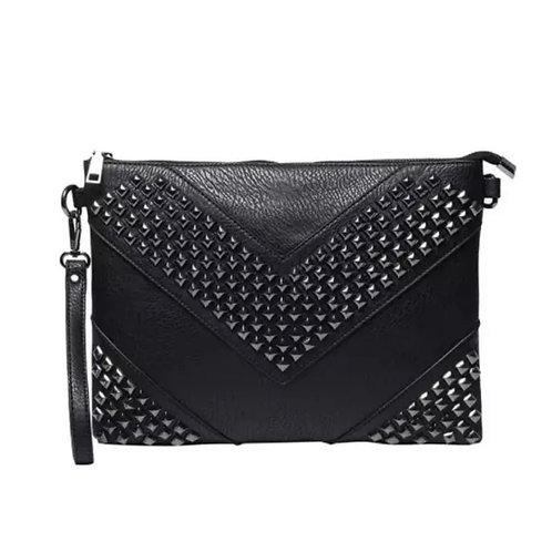 Leather Skull Studded Handbag