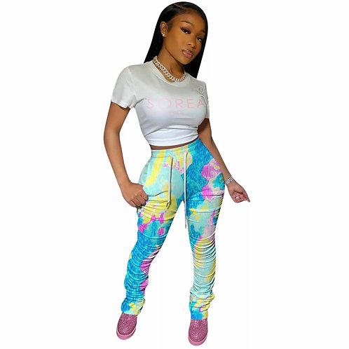 Scrunched Sweatpants -Multicolor