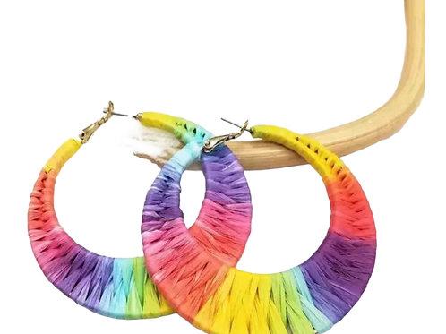 Multi Color Bohemian Hoops