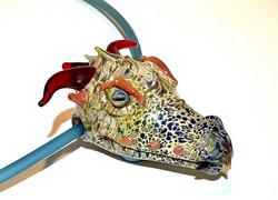 Hollow Dragon Head Pendant