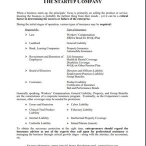 Info for Startups