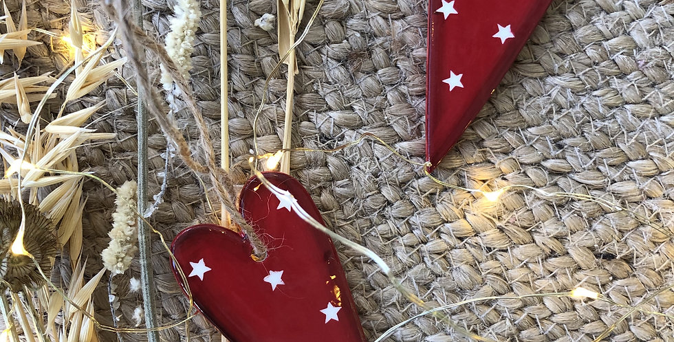 Red Ceramic Hanging Heart