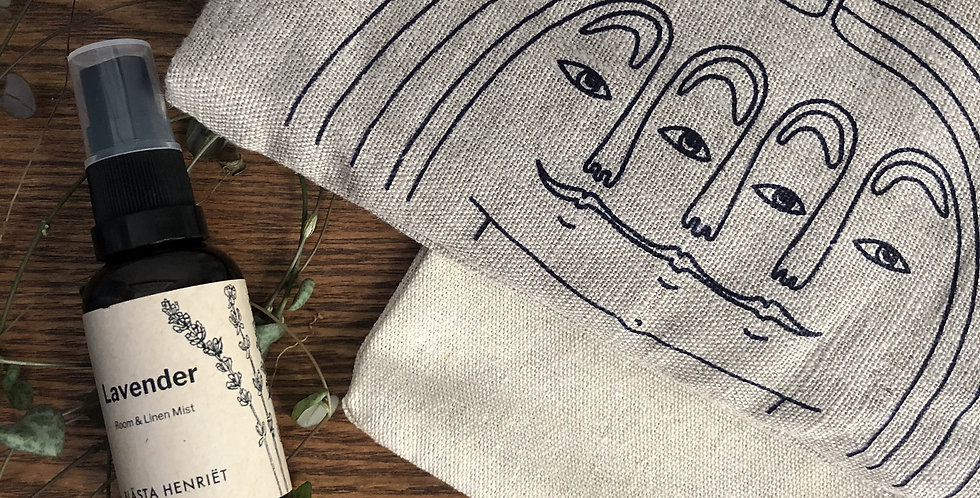 Three Faces Weighted Linen Eye Pillow