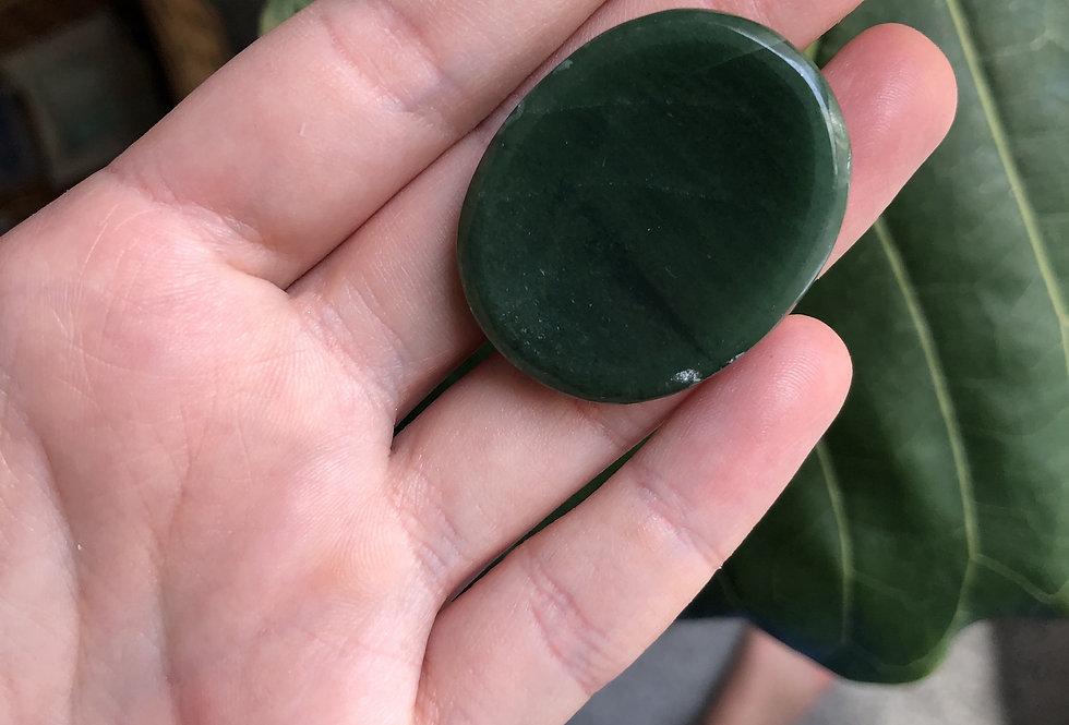 Dark Green Aventurine Thumb Stone