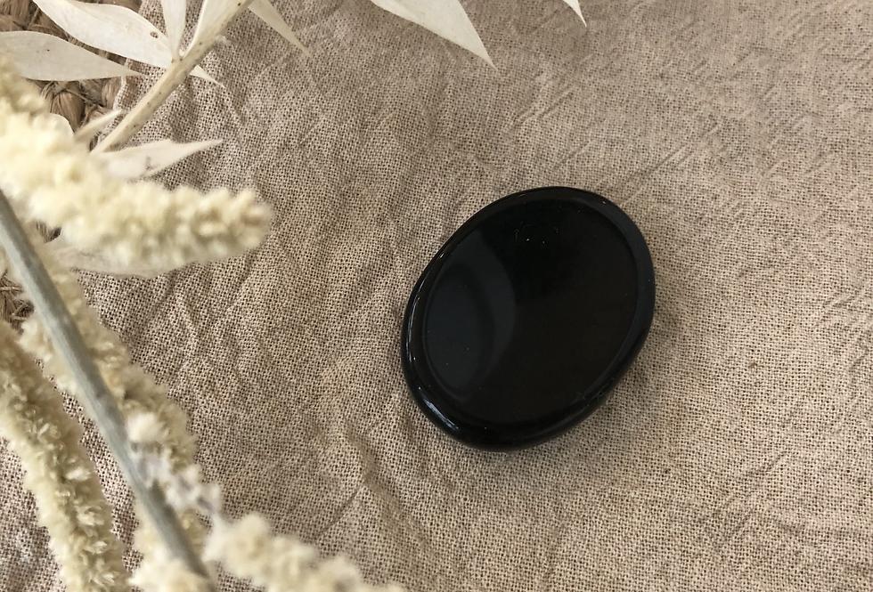 Obsidian Thumb Stone