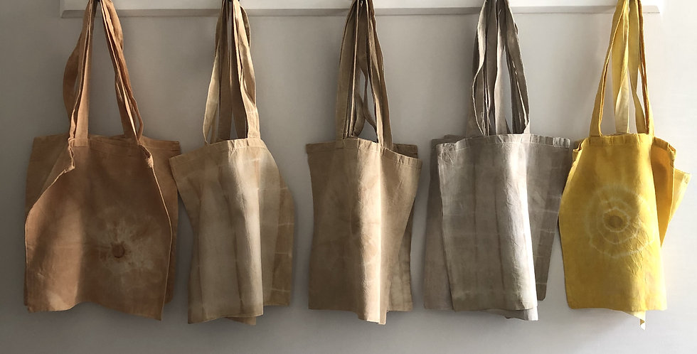 Sustainable Cotton Tea Tied Tote Bag