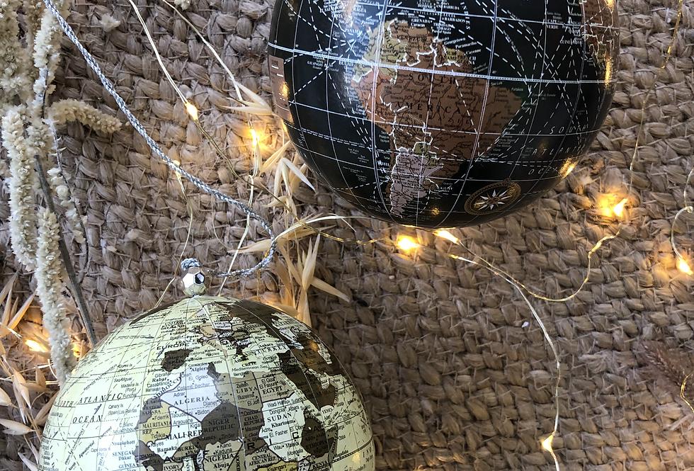 Vintage Globe Bauble