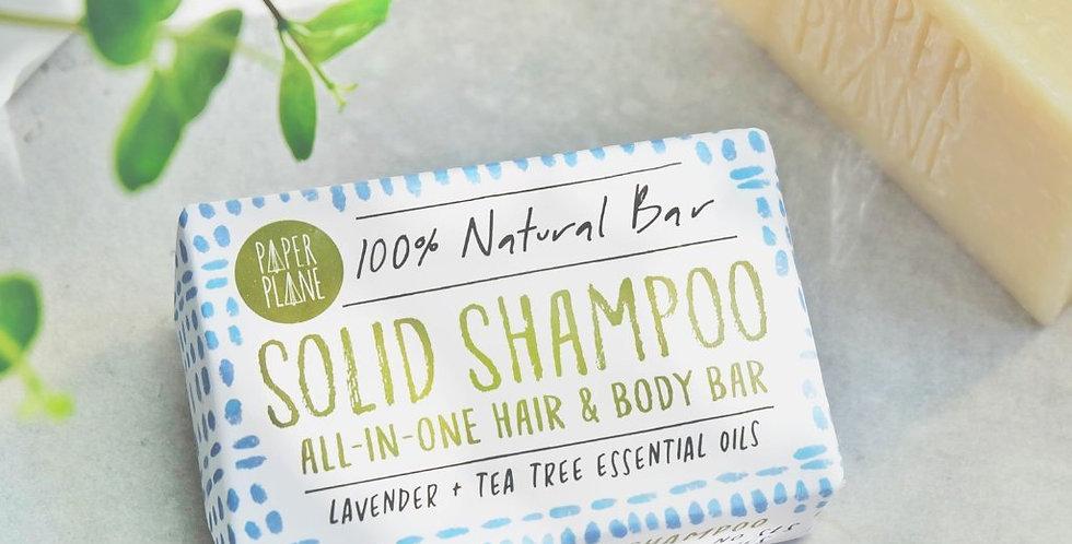 100% Natural Vegan Shampoo Bar - Lavender + Tea Tree