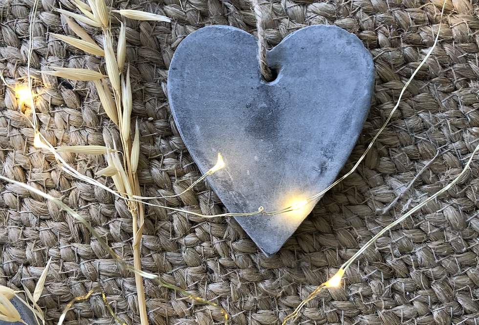 Cement Hanging Heart
