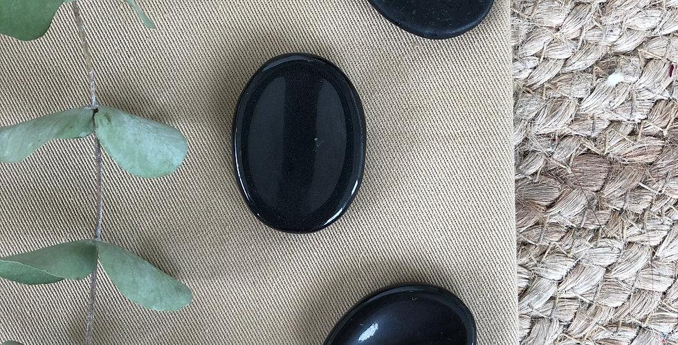 Black Tourmaline Thumb Stone