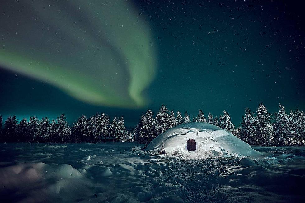 snow igloo arctic factory