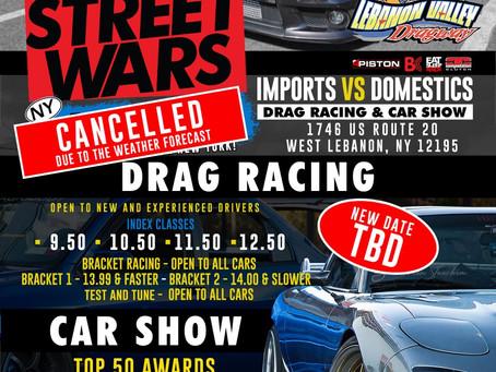 Street Wars Cancelled, Gamblers + TT Weather Permitting