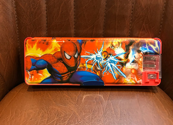 Spiderman Pencil Box with Flash Light