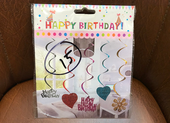 Happy Birthday Heart Danglers