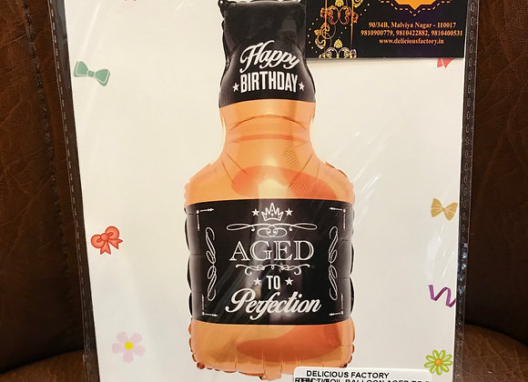 Aged to Perfection Bottle Balloon