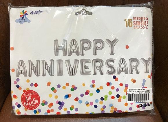 Happy Anniversary Foil Balloon