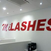 MiLASHES aluminium skylt
