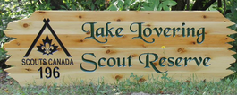 Scouts Canada Wooden Signs