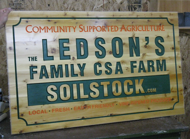 wooden farm signs