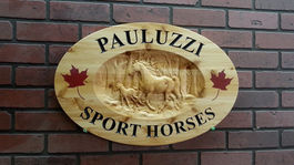 Wooden Signs with Horse