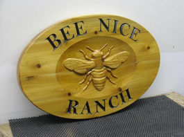 Wood Signs with bees