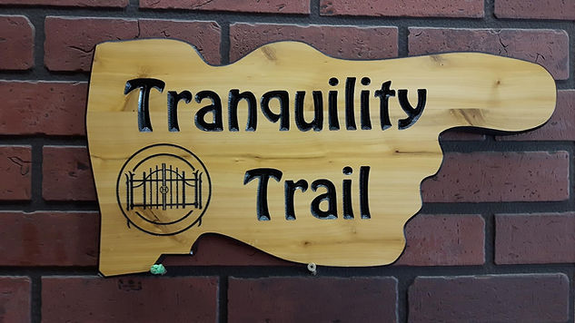 Wooden directional  street sign