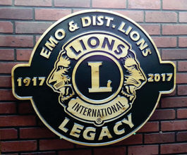wood business signs with logo carved engraved