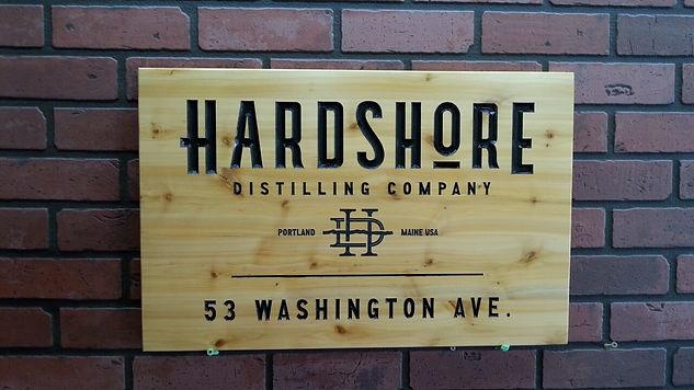 Logo Carved in wooden sign