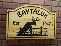 Wooden Cottage Sign