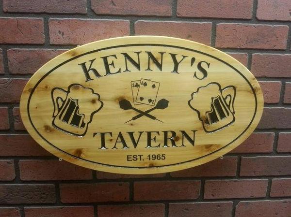 Wood Bar/Tavern Signs
