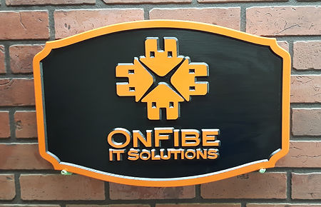 Wooden Business Signs with Logo ONFIBE