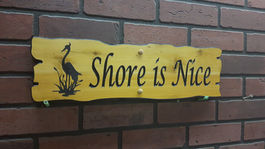 Rustic shape wooden sign