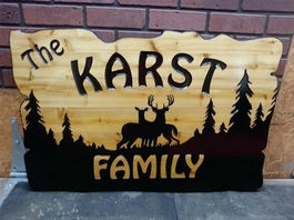 Wooden Driveway Signs