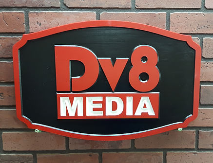 Wooden Business Sign with Logo Engraved