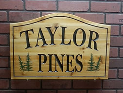 Outdoor Wood Signs
