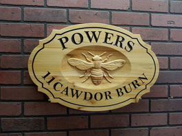 Wooden Bee Signs