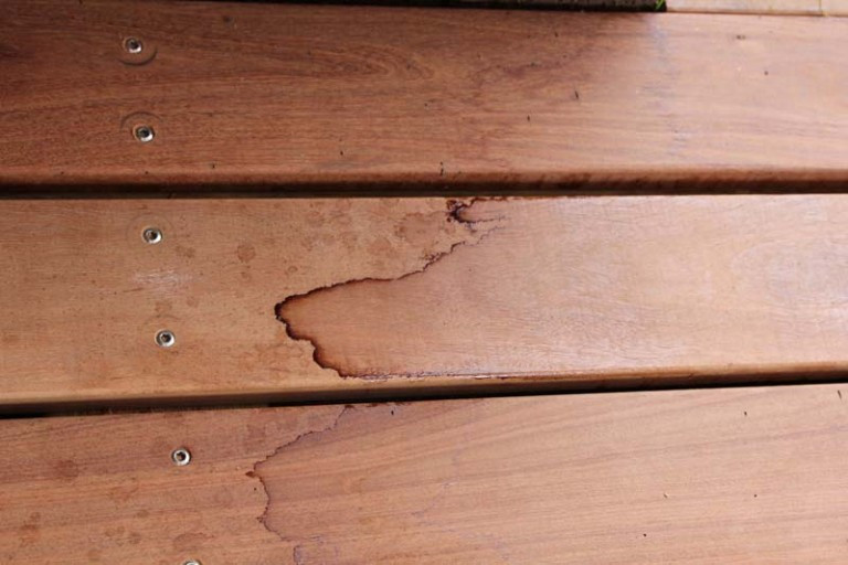 Removing Stains Marks From Decks