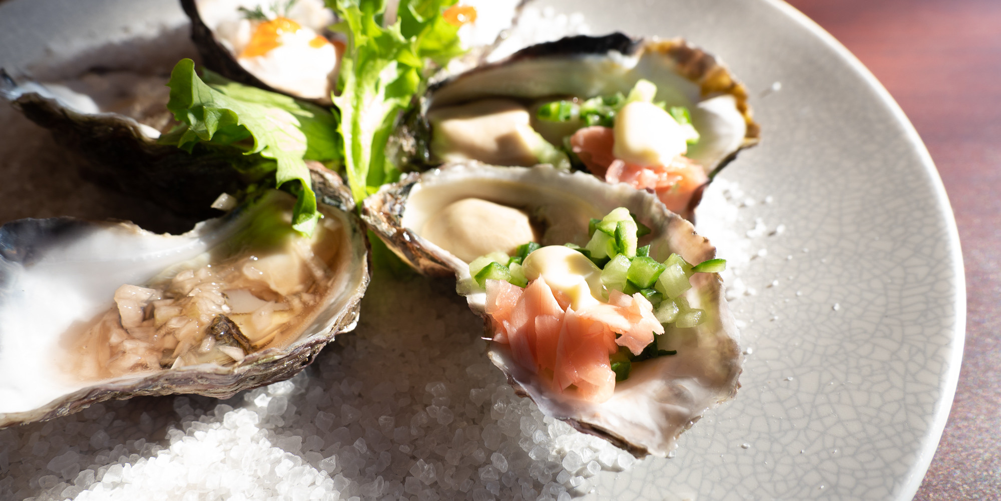 Cold Oysters 3 ways