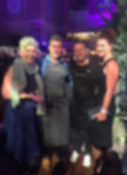 Darren and partner Tina with Maggie Beer and Neil Perry