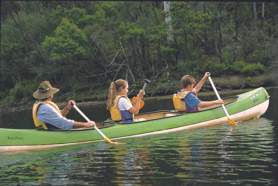 Hire canoes for family fun
