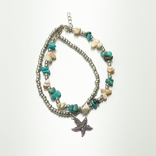 Starfish Beaded Anklet