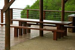 Built in outdoor furniture
