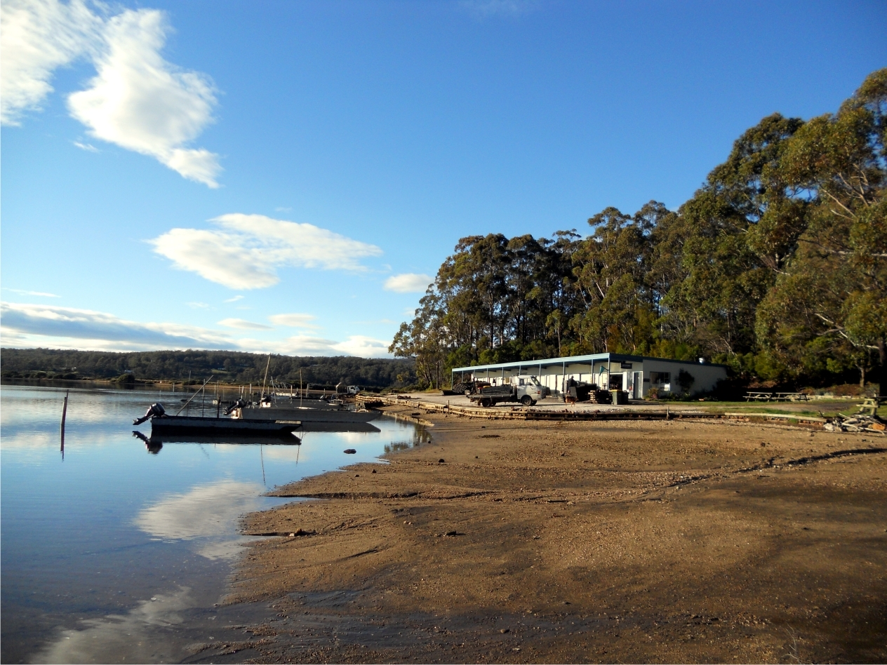 The Oyster sheds at Pambula lake