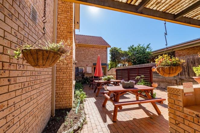Suuny courtyard