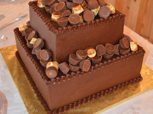 Reeses Candy Groom's Cake