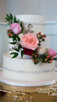 11 Dotted Swiss Buttercream Tiers with S