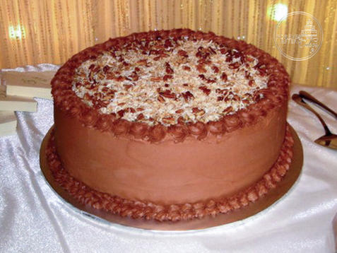 German Chocolate Groom's Cake