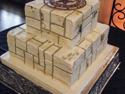 Lime Stone Groom's Cake