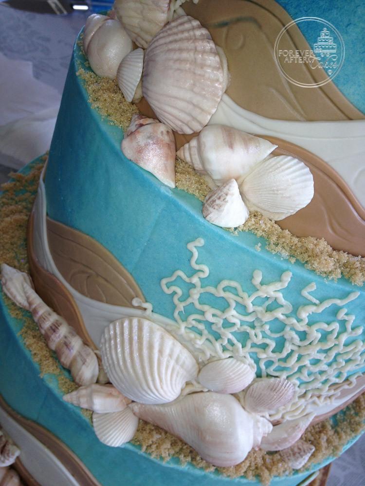 Edible Seashells For Wedding Cake
